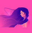 neon colorful silhouette young beautiful women vector image
