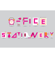 Office and Stationery Display Text vector image vector image
