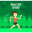 Outdoor Sport Girl running on the street vector image