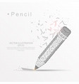 pencil digitally drawn low poly wire frame vector image vector image