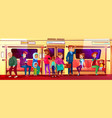 people social issue in subway vector image vector image