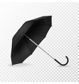 realistic open umbrella side view blank object vector image vector image