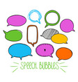 round speech bubbles 2-05 vector image