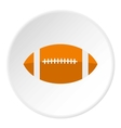 Rugby ball icon flat style vector image