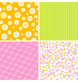 scrapbook patterns for design vector image vector image