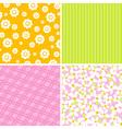 Scrapbook patterns for design vector image