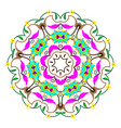 seamless colorful pattern with mandala vintage vector image