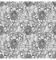 Seamless doodles pattern Black and white fishnet vector image vector image
