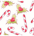 seamless pattern with christmas candy cane vector image vector image