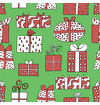 seamless pattern with cute colored giftboxes vector image