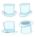 set white cylinder hat vector image vector image