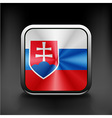 Slovak republic flag national travel icon country vector image