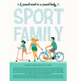 sport family tempale with leading an vector image
