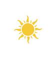 sun icon - simple element summer concept sun vector image vector image