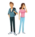 teens boy and girl classmate friend standing vector image