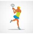 tennis player silhouette vector image vector image