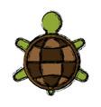 turtle animal symbol vector image