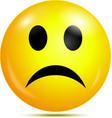Unhappy glossy smiley icon vector image vector image