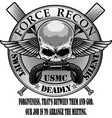 usmc force recon vector image