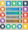 vegetarian cuisine icon sign Set of twenty colored vector image vector image