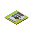 water pipe installation isometric 3d icon vector image