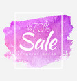 watercolor special offer super sale flyer banner vector image vector image
