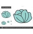 White cabbage line icon vector image