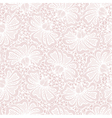White seamless flower lace pattern on pink backgro vector image vector image