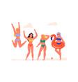women dancing vector image