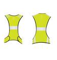 yellow running reflective vest vector image vector image
