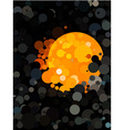Abstract black dot pattern and orange circle vector image