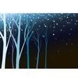Beautiful nature in night vector image