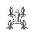 people network line icon sign vector image