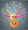 3d infographic design dollar icon vector image vector image