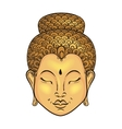 artistically colorful Portrait of Buddha vector image vector image