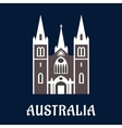 Australian cathedral church flat icon vector image