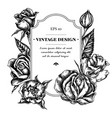 badge design with black and white roses vector image vector image