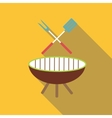 Barbecue icon flat style vector image