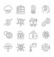 bitcoin icons set digital currency vector image vector image