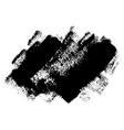 black grunge brushstrokes desing element vector image vector image