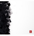 black grunge splash on white background vector image vector image