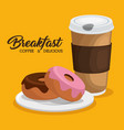 breakfast concept with fesh food vector image