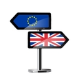 Brexit British referendum concept sign vector image