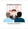 Business Training Icon Flat Design Concept vector image vector image