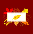 card with stylized autumn foliage falling leaves vector image vector image