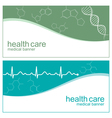 Cardiogram banners vector image