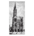 cathedral strasbourg a roman catholic vector image vector image