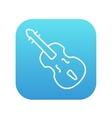 Cello line icon vector image vector image