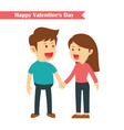 characters couples holding hands in happy vector image