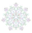 circular symmetric mandala on white background of vector image vector image